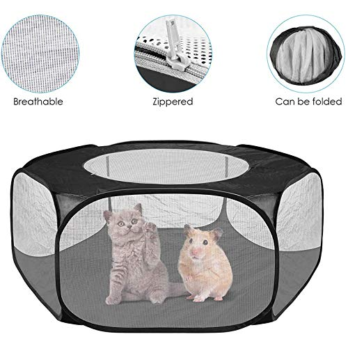 Metyere Small Animals Cage Tent with Top...