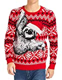 Men Women Ugly Christmas Sweater Holiday Party Xmas Sweater Family Santa Sloth Snowflake Casual Red Striped Knitted Pullover Christmas Jumper