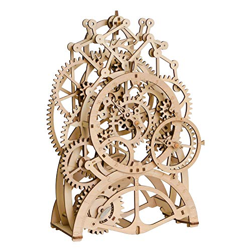 ROKR 3D Wooden Puzzle Clock Kit Model Kits for Adults Birthday Gift Pendulum Clock