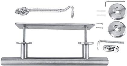 Belissy Metalen ronde schuifdeur handvat trekken met slot voor slaapkamer badkamer kastscherven (zilver)