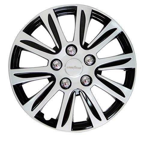 Cartrend 10628 Auto Radkappen Radzierblenden Laredo 4 er Set, 40.64 cm (16 Zoll) schwarz/Silber