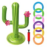 Cactus Gonfiabile Set, 10 Pezzi Gonfiabile Lancio Anelli Gioco, Anelli Gonfiabili per Piscine gonfiabili, Anello Gonfiabile Decorazione Partito Piscina
