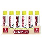 borotalco deodorante spray active, giallo, 150 ml, 6 pezzi