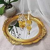 Yamfurga Decorative Mirrors Tray, Hanging Wall Mirror, Vintage Multi-Functional Display Tray, Jewelry Trays, Vanity Trays, Serving Trays,13