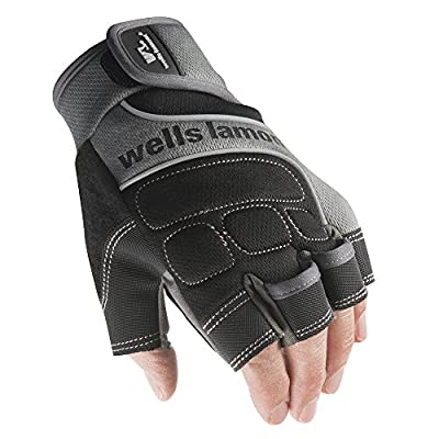 Wells Lamont A841TXL Fingerless Gloves with Reflective Piping,Spandex Back and Palm Patch