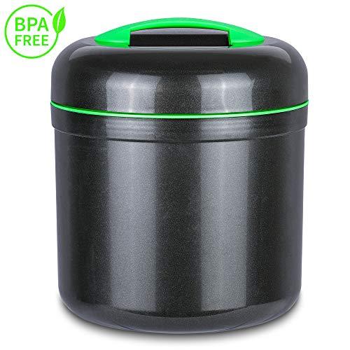 Lisk. Green Forrest 4L - Großer Eiswürfelbehälter mit Deckel, Limettenbox und Abtropfsieb - Eisbehälter, Eiseimer, Eiskühler BPA frei (4 Liter)