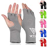 WYOX Boxing Hand Wraps MMA Gloves Men Women Punching Mitts Boxing Wraps Boxing Gear Kickboxing Wraps Compression (S/M (17-21cm), Grey)