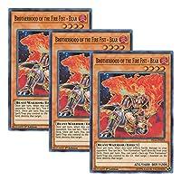 【 3枚セット 】遊戯王 英語版 FIGA-EN023 Brotherhood of the Fire Fist - Bear 暗炎星-ユウシ (スーパーレア) 1st Edition
