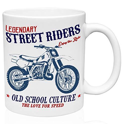 Yamaha yz490 Legendary Street Riders 11oz Taza de café de cerámica de alta calidad