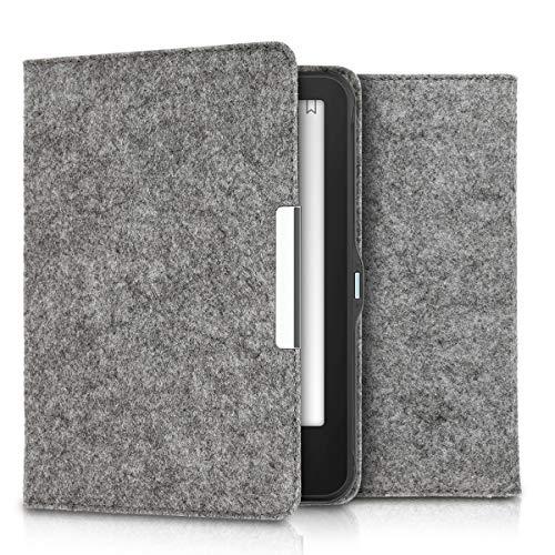 kwmobile Hülle kompatibel mit Tolino Vision 1/2 / 3/4 HD - Filz Stoff eReader Schutzhülle Cover Case - Grau