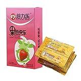 CuiGuoPing 10 piezas/caja de preservativos para hombre, sabor a fruta, ultrafino, lubricado, látex natural (fresa)