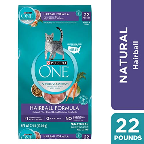 Purina ONE Hairball, Natural Dry Cat Food, Hairball Formula - 22 lb. Bag