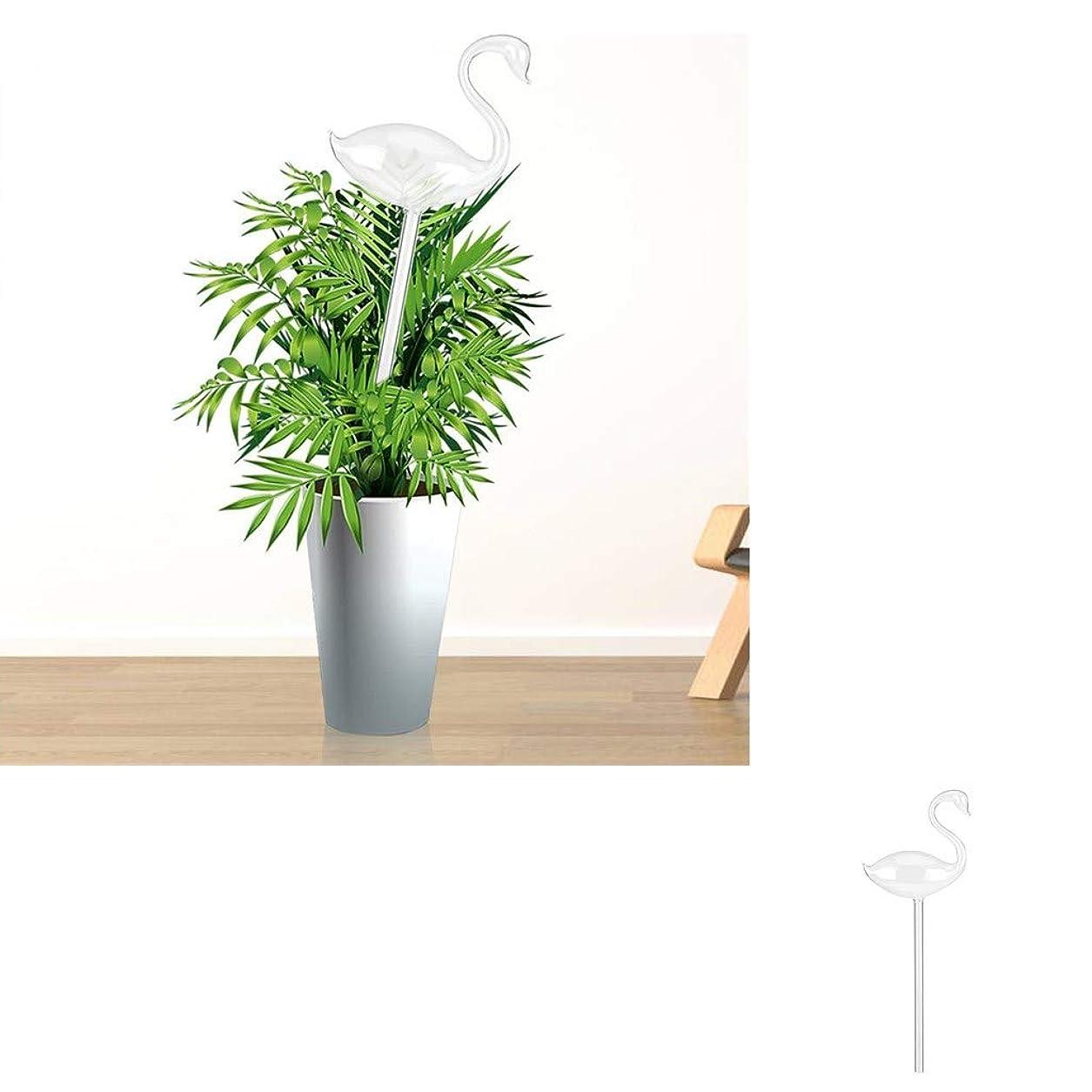 ジョージハンブリージョージハンブリーくちばしガラスの散水用グローブを手で吹いて、植物、屋内屋外装飾ガーデン灌漑システム、クリスマスプレゼントに適した小さな植物の散水用電球を設計します (白鳥の形)