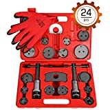Orion Motor Tech 24PCS Master Disc Brake Piston Caliper Compressor Spreader Tool Set | Brake Pad Replacement Reset Wind Back Kit