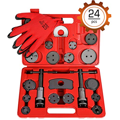 Orion Motor Tech 24PCS Master Disc Brake Piston Caliper Compressor Spreader Tool Set | Brake Pad Replacement Reset Wind Back Kit Change Rear Disc Brakes