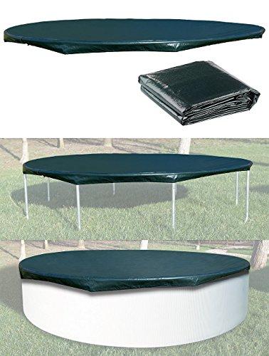 Royal Gardineer Pool Plane: Gewebe-Abdeckplane für Pool & Trampolin, 300 x 17 cm (Ø x H) (Abdeckplane rund)