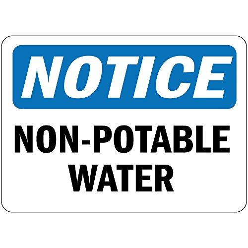 Pegatina de vinilo con etiqueta de Osha de agua no potable, 17,8 x 25,4 cm