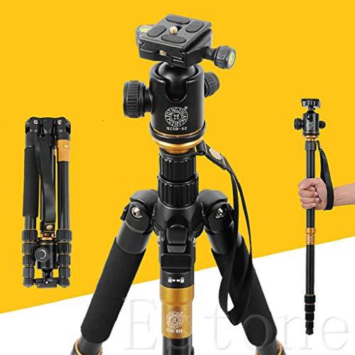 siwetg Camera Ball Head Tripod Compact Travel Camera Stand For Canon Nikon SLR Q-666