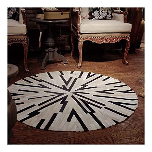 WSHFHDLC Alfombra redonda de cuero antideslizante verde alfombra alfombra alfombra silla de...