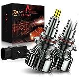 AUXIRACER Lampadine 9005 HB3 LED Auto , 360 ° CSP 60W 6000K 16000LM IP65 - Kit Lampada Sostituzione per Alogena Lampade e Xenon Luci, 2 Lampadine