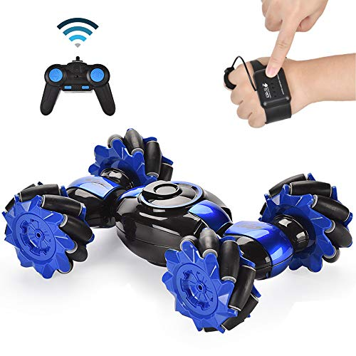 Hand Gesture Sensing Stunt Remote Control Cars for Toddlers- RC Drift Cars - Wall Climbing Remote Control Car (Blue)