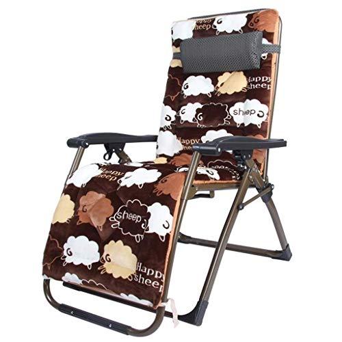 AWJ Sillón reclinable Plegable Silla de jardín para Almuerzo Silla Perezosa Silla Multifuncional Ajustable para el Sol Silla de salón portátil para el hogar Almuerzo