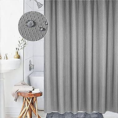 Cryseam Shower Curtain 7272 Grey Thick Polyester Mildew Resistant Fabric Waterproof Antibacterial