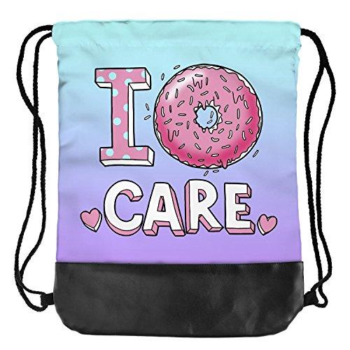 Fringoo® Tasche mit Korderlzug für Herren / Damen / Jungen / Mädchen, Jungen damen Herren Mädchen, I Donut Care