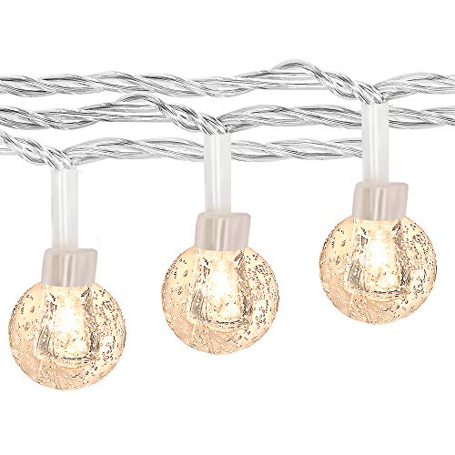 100LED Globe String Lights for Bedroom, 43ft 8 Modes Plug in Decorative Lights, Waterproof Fairy String Lights for Patio, Indoor, Outdoor, Christmas, Wedding, Party, Connectable(Warm White)