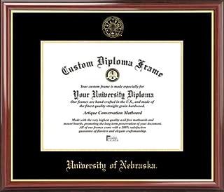 Laminated Visuals University of Nebraska Cornhuskers - Embossed Seal - Mahogany Gold Trim - Diploma Frame
