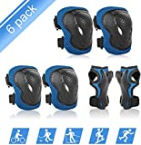 ValueTalks Kids Protective Gear, 4-15 Years Kids Knee Pads Elbow Pads Set with Wrist Guard and Adjustable Strap for Rollerblading Skateboard Cycling Skating Bike Scooter