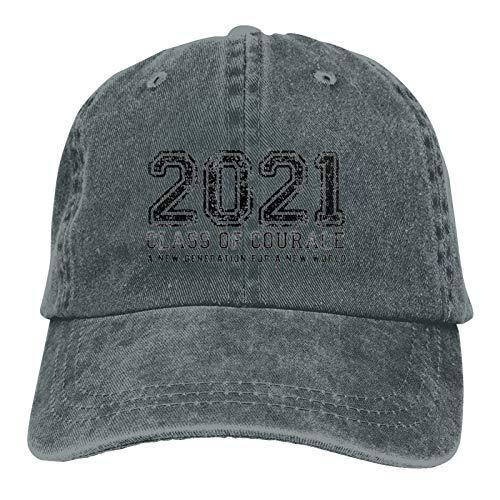 Sombrero unisex para la clase de 2021 gorra de béisbol ajustable para el sol jaspeado profundo