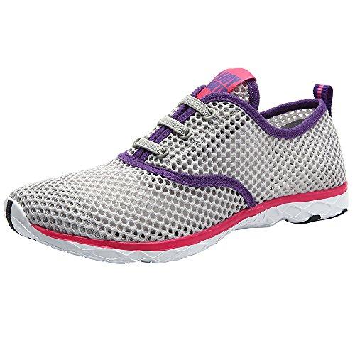 ALEADER Women's Quick Drying Aqua Water Shoes Gray 9 D(M) US