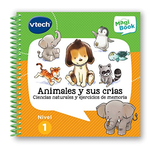 VTech- Animales Y Sus Crías Libro para Magibook, Multicolor, Talla Única (3480-480022)