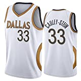 GPUI Mavericks 33 # Cauley-Stein 2020/2021 Season City Edition Jersey, Gym Sports Vest Top Clothing Jersey (S-2XL) XXL