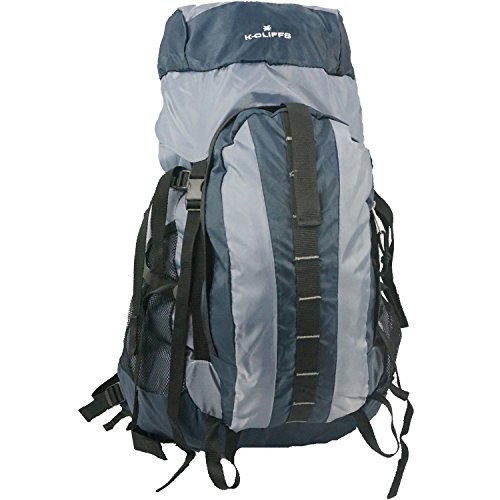 K-Cliffs 10pcs Medium Hiking Backpack Scout Camping Backpack Large Daypack 3200 Cubic Inch w/Internal Aluminum Support Navy Blue Bulk Wholesale