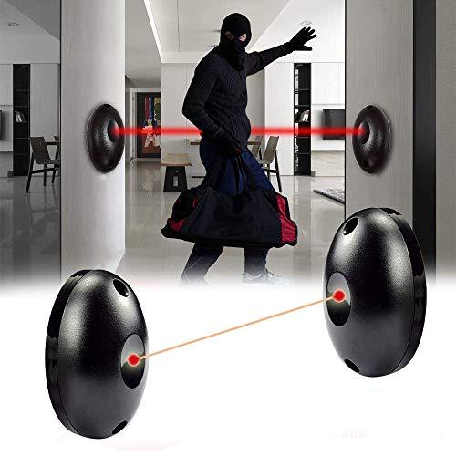 zhuangyulin6 Detector de Alarma 1PC Barrera de Sensor de Haz infrarrojo para Puertas Puertas Windows Protectio, Alarma de Haz fotoeléctrico infrarrojo Senso
