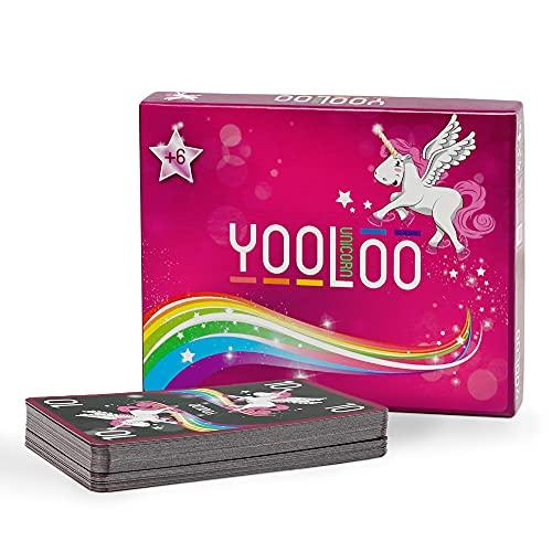 YOOLOO Unicorn - L'eccezionale gioco di carte per bambini, adulti e amanti degli unicorni (da 2 a 8 persone, 2 varianti di gioco)