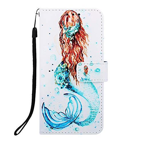 Docrax Handyhülle Lederhülle für Galaxy A40, Flip Case Schutzhülle Hülle mit Standfunktion Kartenfach Magnet Brieftasche für Samsung Galaxy A40 - DOYBO450101 D1