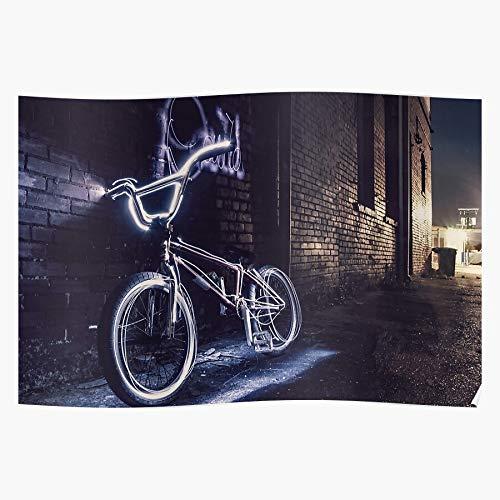 Coolboy Light Fitness Cycle Freestyle Bicycle BMX Neon Bike Il Poster di Decorazione per Interni più Impressionante ed Elegante Disponibile di Tendenza Ora