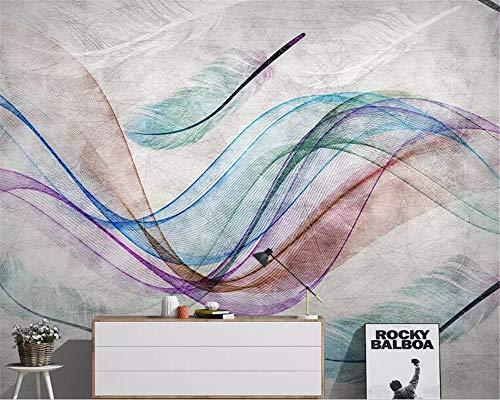 BHXIAOBAOZI behang fotobehang eigen foto 3D wallpaper abstract grijze achtergrond kleur lijnen voor woonkamer sofa TV achtergrond slaapkamer muur decoratie (-Bh0486) 250cm(W)×160cm(H)