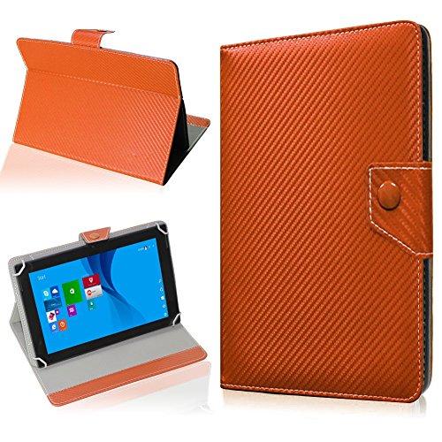 NAUC Tablet Hülle für CSL Panther Tab 10 Tasche Schutzhülle Cover Hülle Carbon, Farben:Bronze