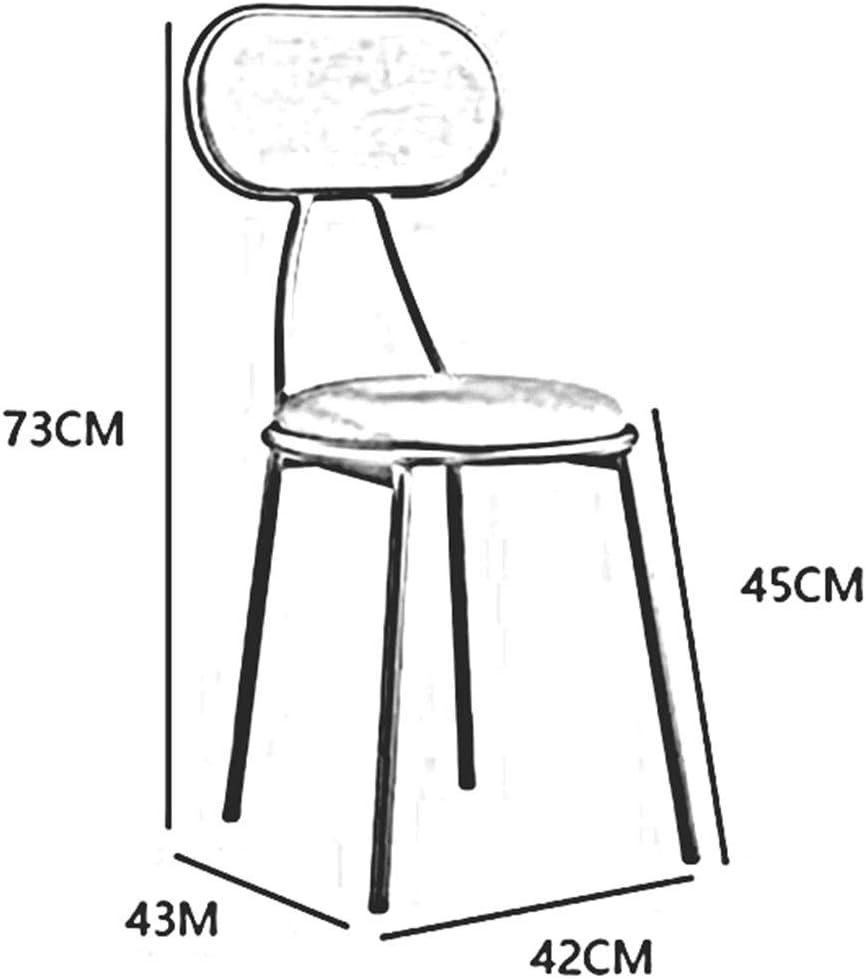 DALL Chaise De Salle À Manger Empilable Chaise De Table La Mode Moderne Cadre en Métal Doré Chaise De Maquillage Tapissé Chaise De Café De Loisirs 42x43x73cm (Color : Green) Brown