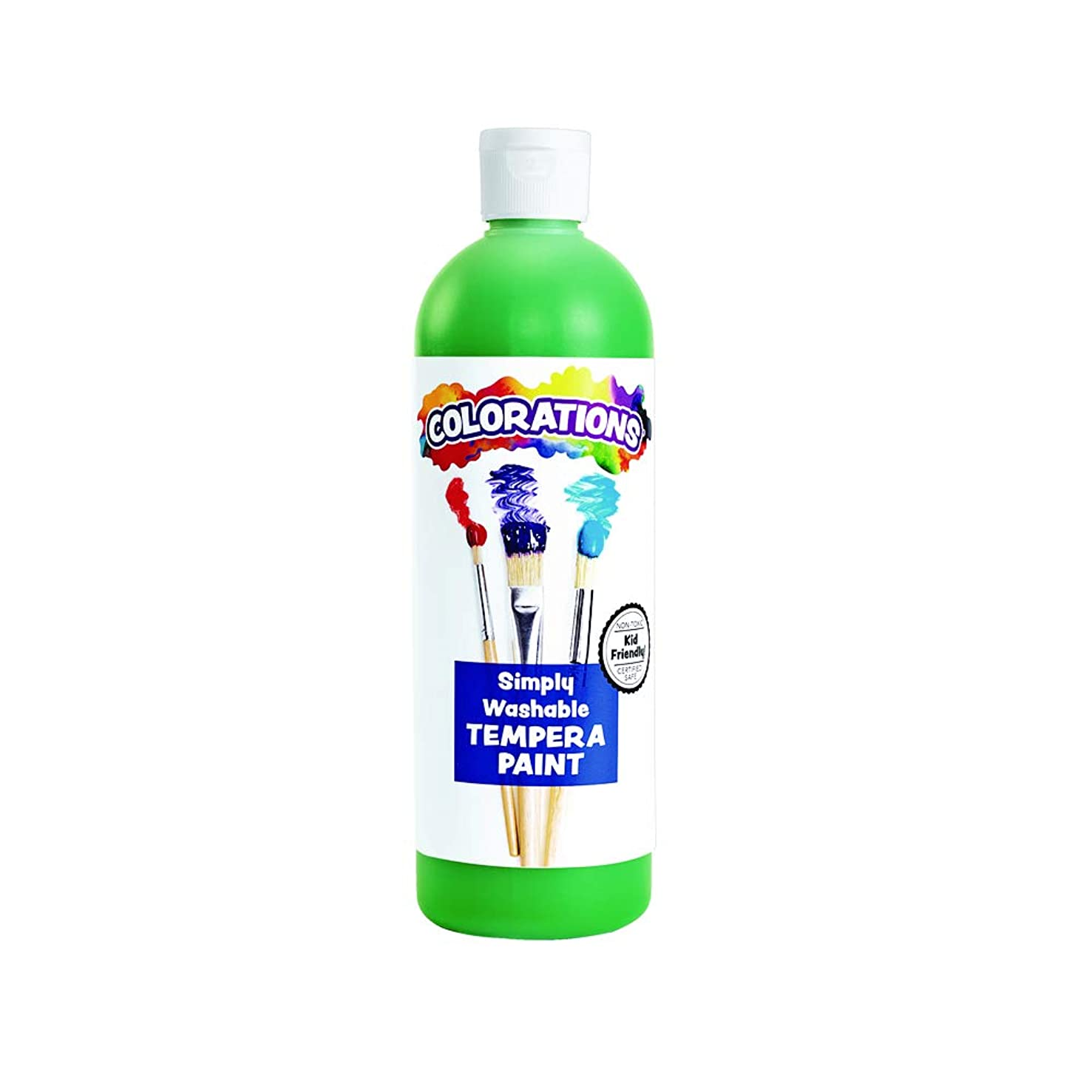 Colorations WSTGR Green Simply Washable Tempera, 16oz.