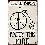 Letrero de chapa de Metal Vintage para bicicletas, patio de garaje retro, hogar, café, bar, club, hotel, decoración de pared, pegatinas, signos-20x30cm