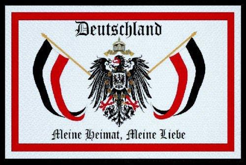 U24 Aufnäher Deutschland Meine Liebe Fahne Flagge Aufbügler Patch 9 x 6 cm