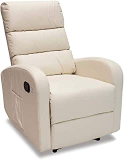 Novohogar Sillón de Masaje Comfort con Sistema de Calor Lumbar y 10 Motores Que Cubren Las 4 Zonas Corporales (Crema)