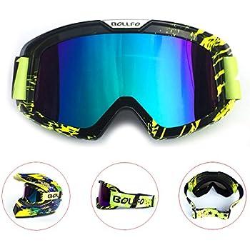 Verde Occhiali di partita fuori strada in bicchieri trasparenti Colorati per protezione occhi KKmoon Occhiali di moto fuoristrada