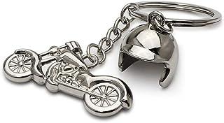 DonJordi Biker sleutelhanger chopper met helm cadeau voor alle motorrijders