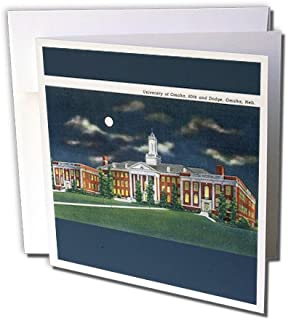 3dRose Vintage Postcard of the University of Omaha, Omaha, Nebraska - Greeting Cards, 6 x 6 inches, set of 6 (gc_170279_1)